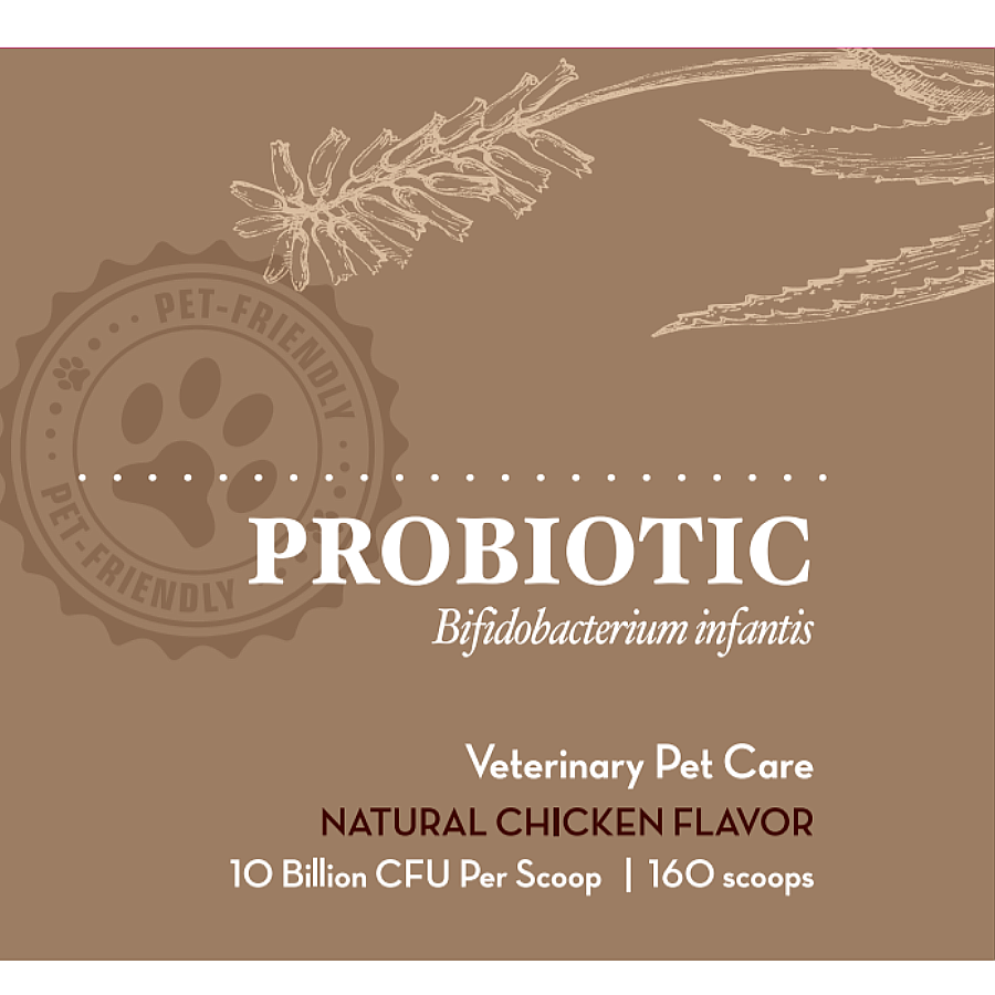 Vet Pet-Friendly Probiotic - Bifidobacterium infantis (160 scoops / 10 billion CFU)